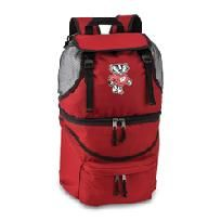University of Wisconsin Printed Zuma Picnic Backpack Red