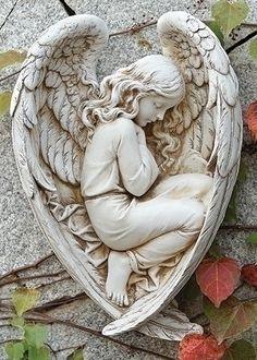 Angel Sleeping In Wing Statue