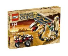 """LEGO Pharaoh's Quest Cursed Cobra Statue 7325 - Features Jake Raines, Helena Tova and mummy charmer figures Cobra is fully poseable Cobra features opening jaws Cobra measures 17"""" 213 elements. http://www.besttoykits.com/lego-pharaohs-quest-cursed-cobra-statue-7325/"""