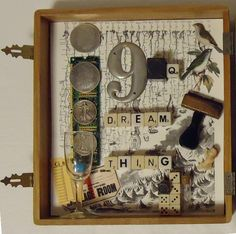 This is by Joseph Cornell. He collects pieces and objects and assembles them within box-like structures to represent something. This is lovely and I love the idea of representation through objects. Collages, Collage Artists, Joseph Cornell Boxes, Shadow Box Art, Found Object Art, A Level Art, Mix Media, Assemblage Art, Oeuvre D'art