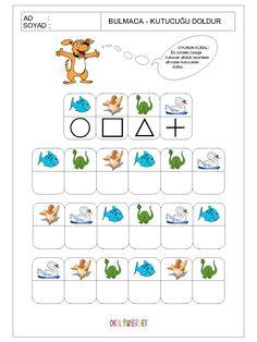 okul-öncesi-bulmaca-kutucuğu-doldur-oyunu-1.gif (1200×1600) Dyslexia Activities, Mental Maths Worksheets, Printable Preschool Worksheets, Learning Activities, Activities For Kids, Kids Learning, Coding For Kids, Math For Kids, Lessons For Kids