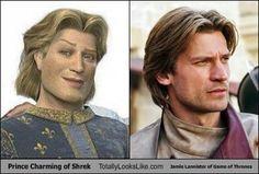 "Prince Charming of ""Shrek"" Totally Looks Like Jaime Lannister of ""Game of Thrones"""