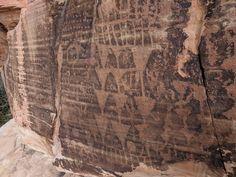 Brownstone Canyon petroglyphs, Nevada