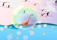 Dino in Seifenblase. Outdoor Decor, Art, Soap Bubbles, Pictures, Art Background, Kunst, Performing Arts, Art Education Resources, Artworks