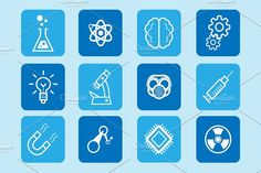 Science, medicine & health icons by ToonPlanet Vector Assets on @creativemarket