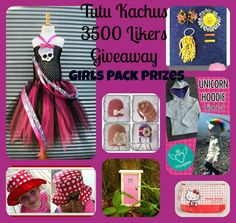 Enter this Dango giveaway for Huge Girls Prize Pack worth over $280!!!! Unicorn Hoodie, Giveaway, Packing, Girls, Bag Packaging, Little Girls, Daughters, Maids