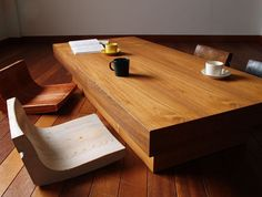 diy low dining table and cushions, japanese inspired. 低ダイニング