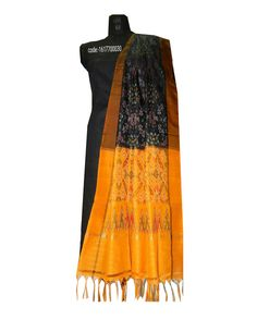 """Grab these colour full """"#ikat #silk #dupattas"""" elegance to your apperance and help to hold your style and look together.... Price:Rs.2190/- Wash care : Normal wash (for trade inquiries please contact our whatsapp no  Single / Retail Customer ...please contact 8099433433 B2B/Resellers/Bulk buyers...please contact 8801302000)"""