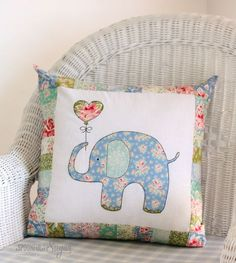 Ella the Elephant Pillow, pdf sewing pattern by A Spoonful of Sugar
