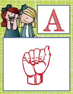 the BRAINY BUNCH Theme Decor / Alphabet Banner - American Sign Language A to Z, printables / Graphics by Melonheadz / ARTrageous FUN
