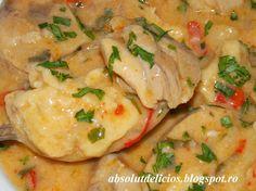 Absolut Delicios - Retete culinare: PAPRICAS DE PUI CU SMANTANA