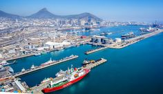 Aerial view of the main facilities of the Port of Capetown [4287  2471]