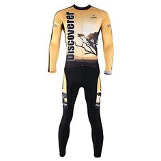 Mens Cycling Suits Long Jersey Long Sleeve  Tights PantsDiscovererSizeL >>> You can get additional details at the image link. (Note:Amazon affiliate link)