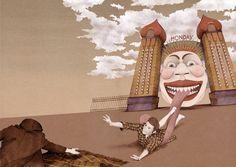 Illustration by Nader Sharaf for the poem 'Fridays' by Roddy Williams — Popshot Issue Twelve