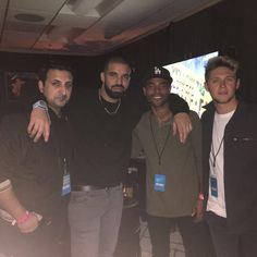 Niall with Drake the other night at Drake's concert in LA