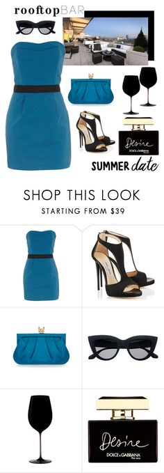 """Summer Date: Rooftop Bar"" by pixidreams ❤ liked on Polyvore featuring Dorothy Perkins, Wilbur & Gussie, Riedel, Dolce&Gabbana, summerdate and rooftopbar"