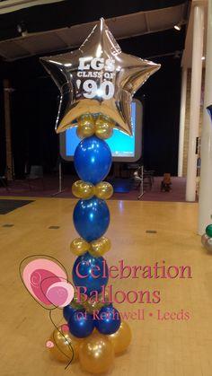 School reunion theme from www.balloonsleeds.com Balloon Arch, The Balloon, Personalised Balloons, Balloon Pictures, Celebration Balloons, School Reunion, Wakefield, Leeds, Columns