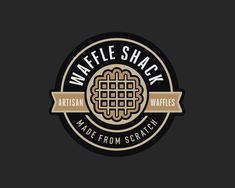Branding for Waffle Shack. #Branding #Food #Waffles #Vector #LogoDesign #Artisan #Logo #Logotype #Foodtruck #GraphicDesign #Brand #Sign #Retail #Badge #Typography #ID #Identity #BrandIdentity #MartinEpelde #Delicca