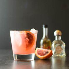 Blood orange cocktails