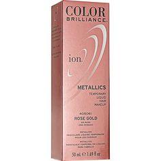 ion Color Brilliance Metallics Temporary Liquid Hair Makeup Rose Gold