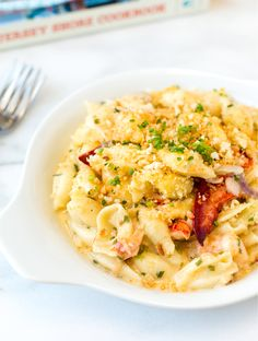 Recipe for rich and creamy Lobster Mac and Cheese from Labrador Lounge in Normandy Beach, NJ, plus a review of The Jersey Shore Cookbook.