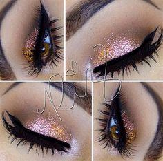 Pretty glittery eyeshadow