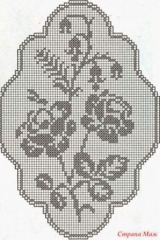 Home Decor Crochet Patterns Part 125 - Beautiful Crochet Patterns and Knitting Patterns Filet Crochet Charts, Crochet Doily Patterns, Crochet Stitches, Cross Stitch Patterns, Knitting Patterns, Rose Patterns, Crochet Dollies, Fillet Crochet, Crochet Decoration