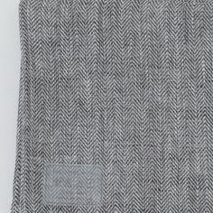 kitchen cloth: black herringbone
