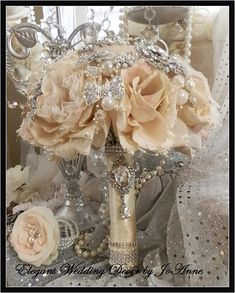 Vintage Style Bridal Brooch Wedding Bouquet by Elegantweddingdecor, $150.00