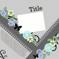 Ideas for Scrapbookers: A New Template with Angles!