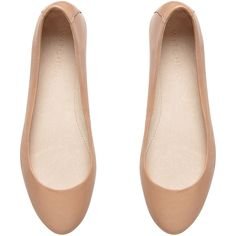 Witchery Isabella Ballet (£58) ❤ liked on Polyvore featuring shoes, flats, sapatos, zapatos, sapatilhas, nude, nude ballet flats, leather ballerina flats, ballet flats and nude flats