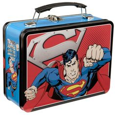 Superman Man of Steel Large Tin Tote