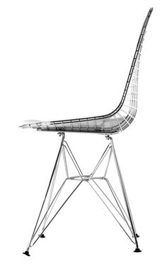 Eames Wire Chair by Charles and Ray Eames - Matt Blatt Charles Eames, Classic Furniture, Contemporary Furniture, Chair Design, Furniture Design, Vitra Design, Wire Chair, Mid Century Modern Design, Living Furniture