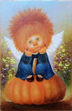 Diamond embroidery children diy diamond painting angel Pictures of rhinestones sale Diamond mosaic full display Hobby crafts Whimsical Halloween, Halloween Art, Pictures To Paint, Art Pictures, Illustrations, Illustration Art, Miniature Photography, Cute Paintings, Angel Pictures