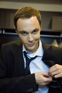 Jim Parsons - Sheldon Cooper (the big bang theory) ohhhh dang! some one is a sexy nerd when hes not sheldon :)