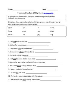 Printables 6th Grade Homeschool Worksheets a well the ojays and essay writing on pinterest synonyms worksheet choosing ela literacy l 7 5b language worksheet