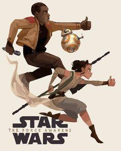 """Beepopbeepbeeppop"" -BB-8. Star Wars: The Force Awakens art."
