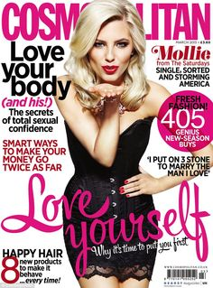 Mollie King for Cosmopolitan magazine March 2013 issue
