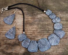 Statement necklace and earrings Boho Brown and от Jewelry4UOnly