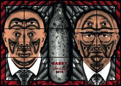 GILBERT & GEORGE – LAST MONTH. Gilbert & George – Scapegoating Pictures for London. White Cube, Bermondsey. Ten out of ten.