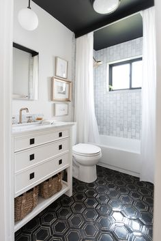 Bathroom renovation and makeover from the blog, Room for Tuesday.