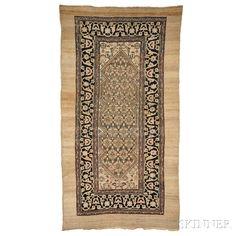 Antique Hamadan Long Rug, Iran, c. 1900, 9 ft. 10 in. x 5 ft. 3 in.   | Skinner Auctioneers Sale 2884B