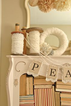 Super cute how the Peace is hung!