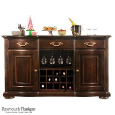 A casual, yet grandly styled buffet, the Belmont buffet with wine storage is inspired by enduring traditional French designs with a touch of West Indies influence.