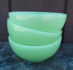 Fire King jadeite bowls