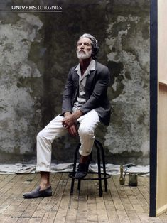 (Aiden Shaw by Stéphane Gallois) Damn I bet Bruce'll look like this when he gets old