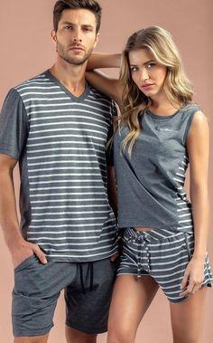 Cute outfits matching ideas for couples Cute Pajama Sets, Cute Pajamas, Cute Summer Outfits, Cool Outfits, Fashion Outfits, Women's Sleep Shirts & Nightgowns, Mens Leisure Wear, Pijamas Women, Pyjamas