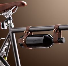 Vino To Go  $31.49  How cool is this wine bottle carrier as an accessory for biking?!!