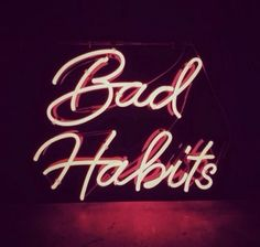Neon signs are my new favorite aesthetic Neon Words, Neon Aesthetic, Aesthetic Black, Aesthetic Images, Neon Glow, Typography, Lettering, Foto Art, Bad Habits