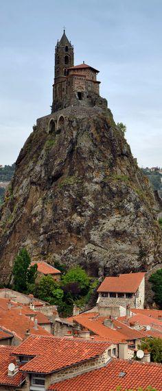 Église Saint Michel d'Aiguilhe, Le Puy-en-Velay (Haute Loire) - France.